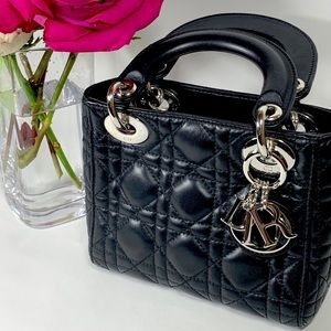 Christian Dior Mini Lady Dior Black Bag